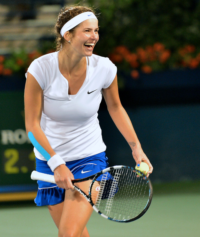 Julia Goerges Of Germany Reacts
