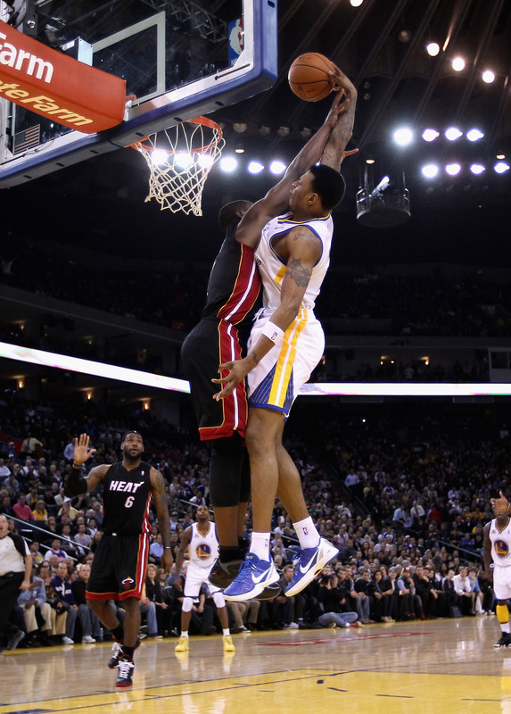 Brandon Rush #4 Of The Golden State Warriors Goes
