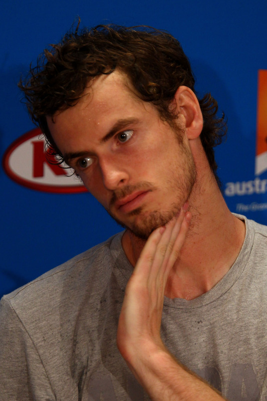 Andy Murray Of Great Britain Talks To The Media At A Press Conference Following His Semifinal Loss Against Novak