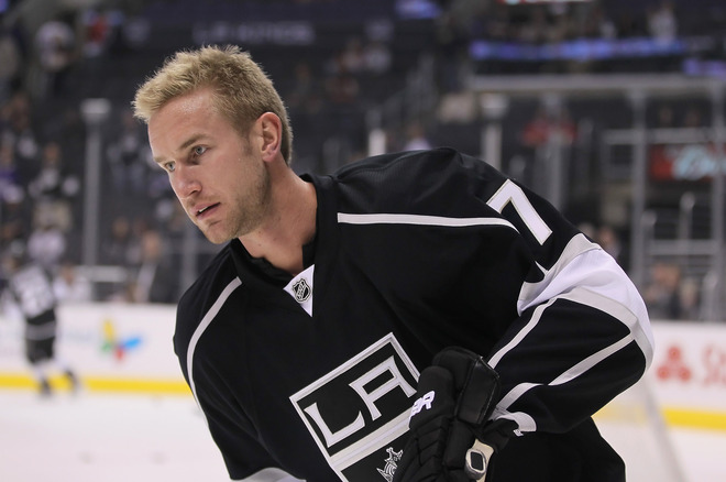 Jeff Carter #77 Of The Los Angeles Kings Skates