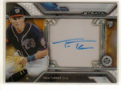 2016 Topps Strata Trea Turner Autographed Card