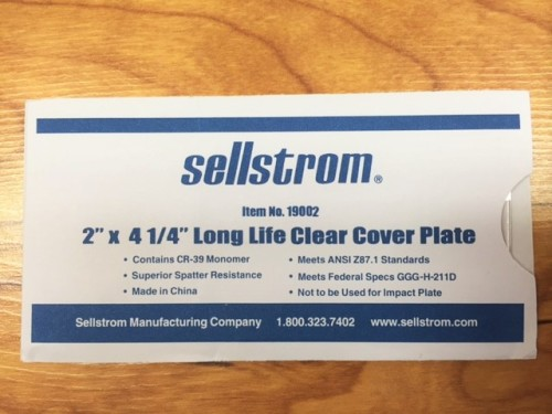 "Sellstrom Lens 2""x4-1/4"" Single"