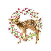 Fawn Side Clover Ring-11x14