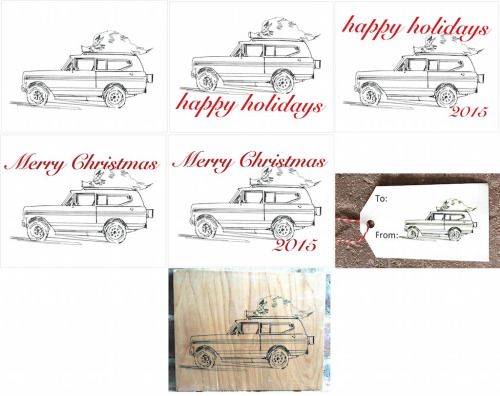 International Scout Pencil Holiday-2x3.5 Present Tag-No Copy