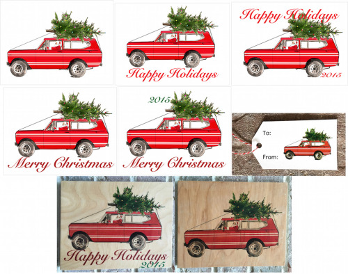 Red International Scout-2x3.5 Present Tag-No Copy