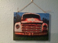 8x10 Patina Truck on Wood