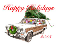 Jeep Grand Wagoneer Presents-8x10 Wood Transfer-Merry Christmas