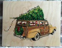 It's A Woody Holiday-8x10 Wood Transfer-No Copy