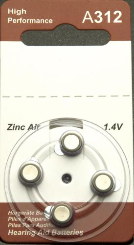 Hearing Aid Batteries Size 312