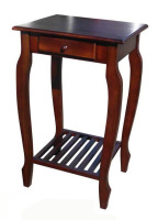 D-ART Carolina Table with 1 Drawer - in Mahogany wood