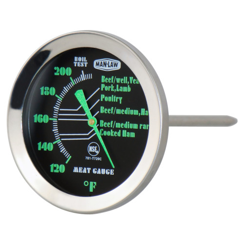 Meat Thermometer With Glow In The Dark Dial