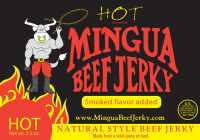 Mingua Beef Jerky Hot 3.5 oz.