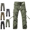 Men Casual Military Army Cargo Camo Combat Work Pants Trousers size 30