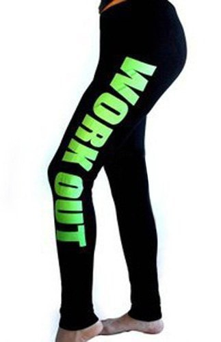 Letter Pattern Stretchy Fashionable Yoga Pants For Women