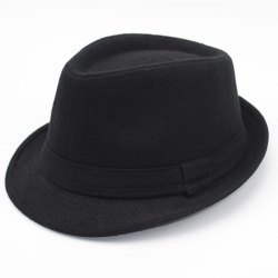 Fashionable Simple Solid Color Felt Fedora For Men