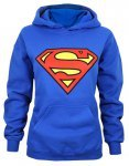 Stylish Hooded Long Sleeve Superman Shield Logo Superhero