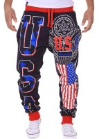 American Flag Loose Fit Sweatpants For Men