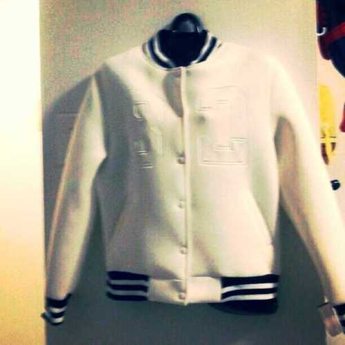 Ladies White #82 Varsity jacket