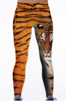Chic Women's Tiger Print High Stretchy Leggings