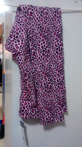 Leggings pink w leopards spots