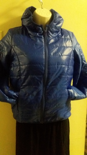 Royal blue puffer jacket