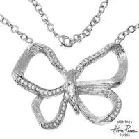 HENRI PUREC NEW BUTTERFLY SWAROVSKI CRYSTAL NECKLACE