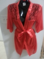 red robe w lace