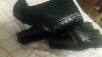 Black shoe boot,