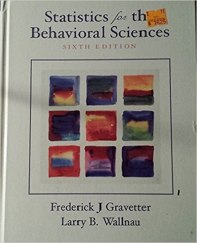 Statistics for the Behavioral Sciences 6th Edition