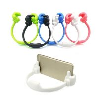 Universal OK Thumb Mount Flexible Stand Holder For Mobile Phone iPhone4/5/6 iPad Samsung-blue