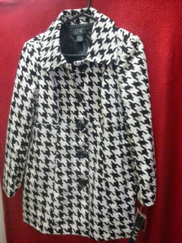 HoundsTooth Peacoat Style