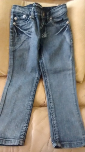 Lil Girls fade  blue jeans size 4t