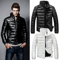 Fashion New Winter Warm Wear Stand Collar Men's Down Slim Parka Jacket Coats Outwear  Fashion New Winter Warm Wear Stand Collar Men's Down Slim Parka Jacket Coats Outwear
