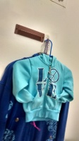 Turquoise hoodie size 4T kids