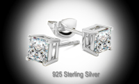Sterling Silver Stud Earring Basket