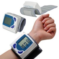 Automatic Wrist digital lcd blood pressure monitor portable Tonometer Meter for blood pressure meter
