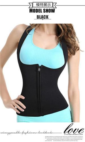 Zipper type Ultra Sweat sports corset sweater clothing body sculpting clothing