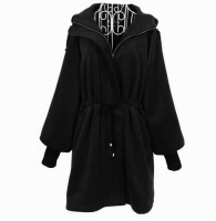 Luxurious Puff Sleeve Coat With Hood
