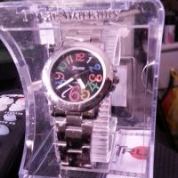 Ladies watch with color trendy time face.
