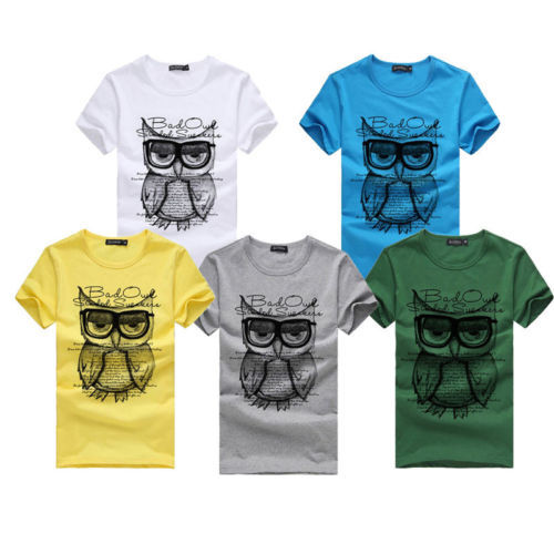 Owl Tees Shirt -yellow-med
