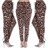 New Fashion Stylish Lady Women's Casual Sexy Fit Leopard Long Harem Pants Lady Pants