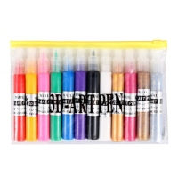 Fashion Women Manicure Tools 12 Colors Nail Art Pen Painting Design Drawing for UV Gel Polish