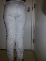 white fancy type leggings