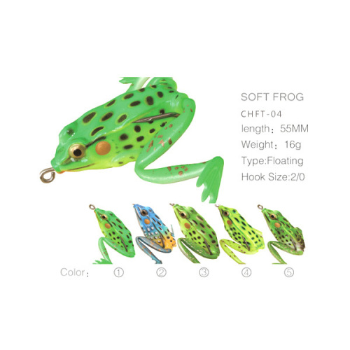 BASF Frog Soft Hollow Body Lures For Fishing