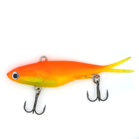 95mm Soft vibe fishing lures for bass VMC Hooks
