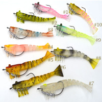 3.5'' soft shrimp lure luminous eyes, 4 colors now available 3.5 inch 10g