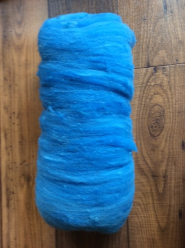 Batt- Wool - Deep Blue - Like Roving