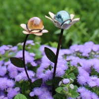 Flower Gazing Ball (Set of 2)