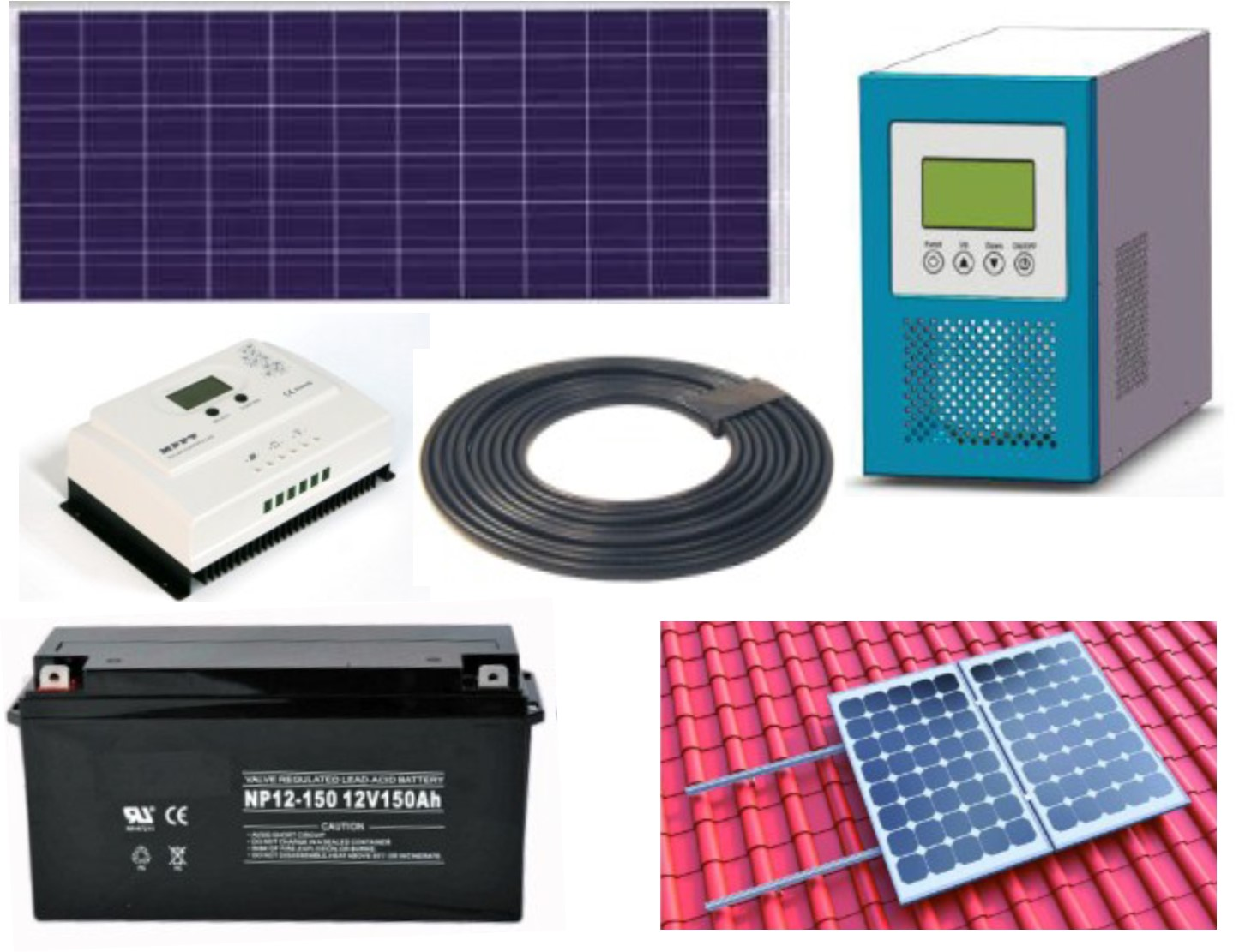 1000 Watt Complete Off-Grid Solar Panel Kit