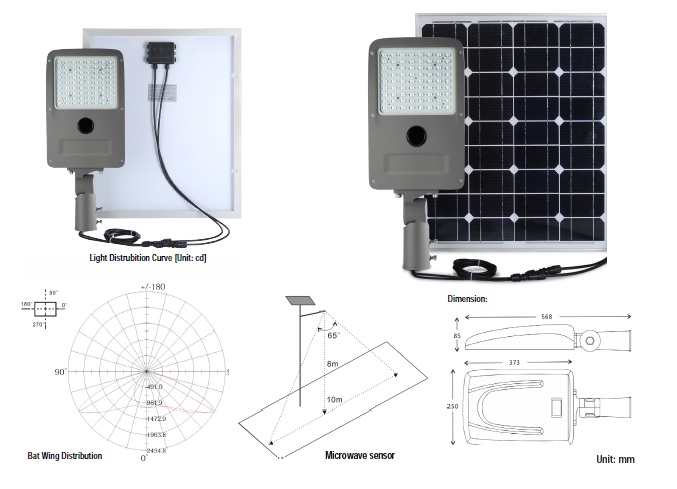 HELIOS Solar Street Light-20 Watt